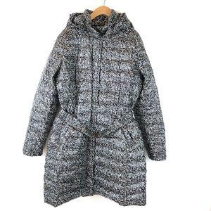 Lands End Camo Packable Long Puffer Coat Belted L